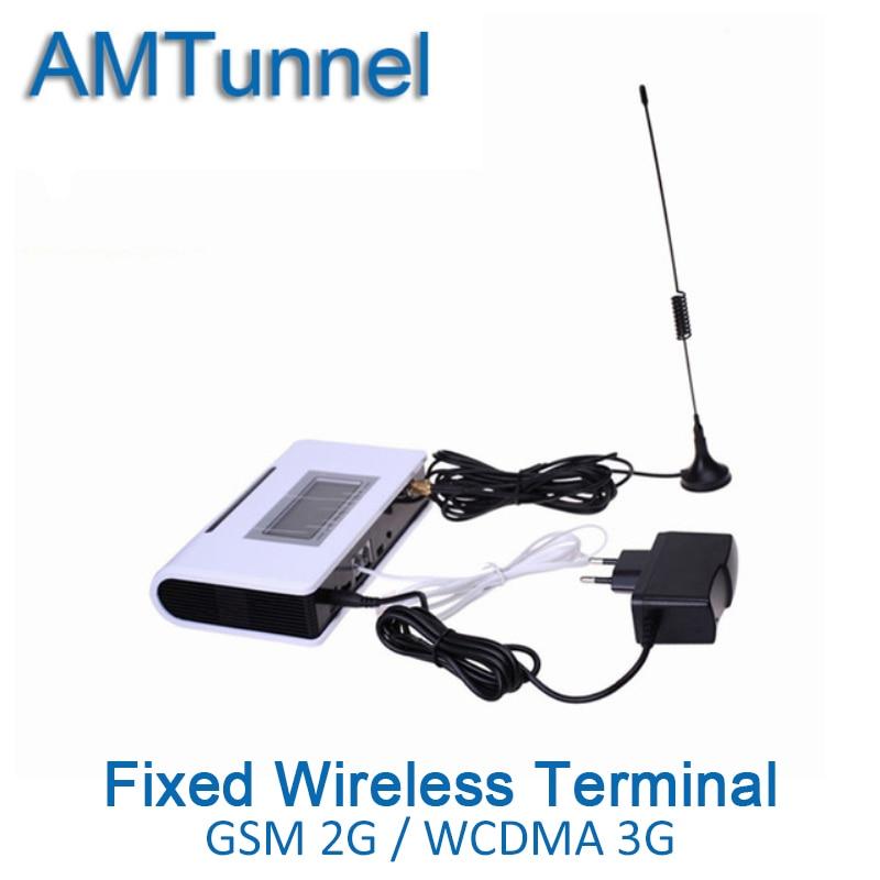 3G UMTS WCDMA2100Mhz 2G GSM FWT fisso senza fili terminale FWT con display LCD per il collegamento del desktop telefono per effettuare telefono chiamata