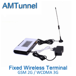3G WCDMA2100Mhz fixed wireless terminal 2G GSM FWT UMTS FWT with LCD display for connecting desktop phone to make phone call