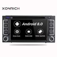 Android 8,0 Octa Core 4G Оперативная память dvd плеер автомобиля для Toyota Land Cruiser 100 200 Corolla 150 RAV4 Hilux Прадо 120 Yaris Camry