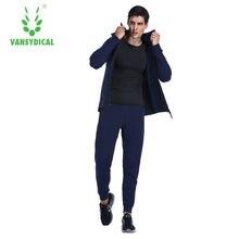 Мужская Спортивная полный молнии работает обучение бег спортивный костюм тренировочный костюм Спортивная одежда с капюшоном Топ Размер плюс Размер 3XL