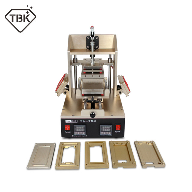 цена TBK-518 5 in 1 Vacuum LCD Screen Separator + Glue Remover + Frame Remover for samsung + Frame Laminator for iphone