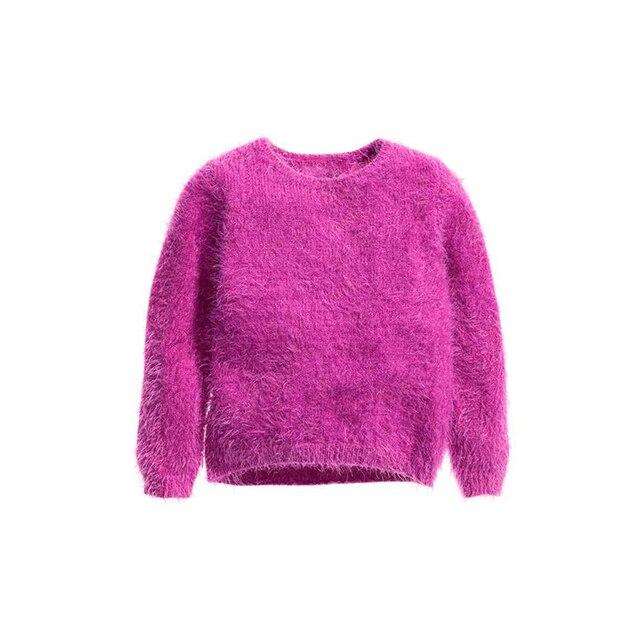 2015 ребенка женского пола rosered бархат верхнего качества мягкой шерсти трикотажные с длинными рукавами пуловер ребенка шерстяной свитер