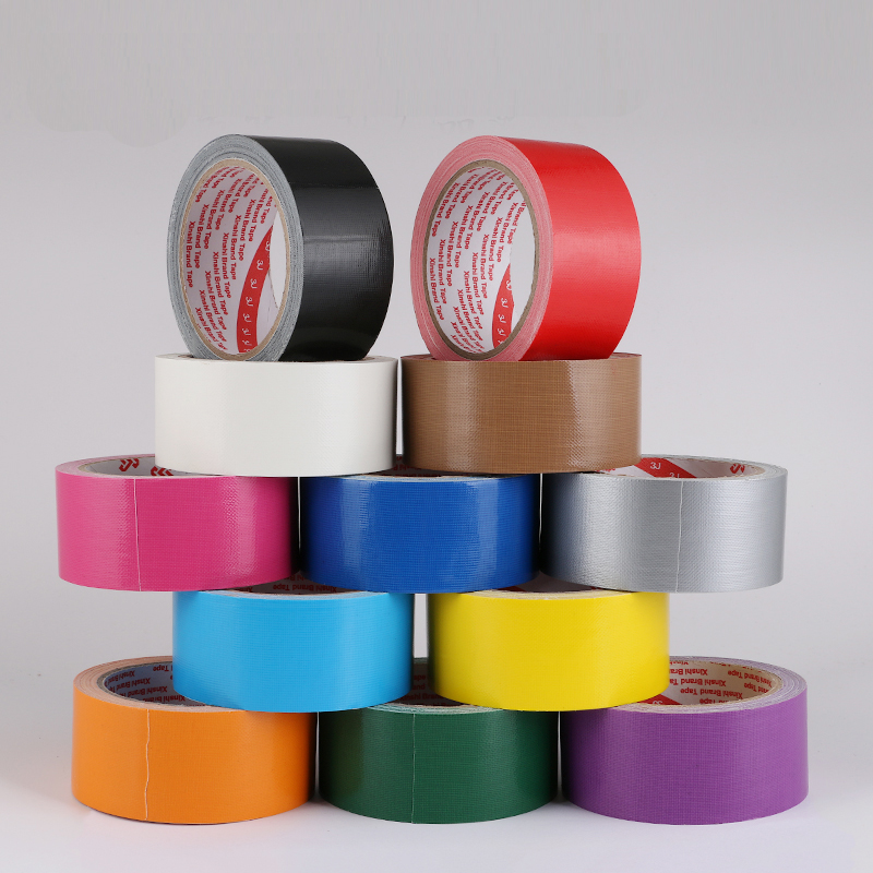 Cloth tape carpet Floor tape Diy decoration black red Strong waterproof vigorously Color tape Duct tape 10M length
