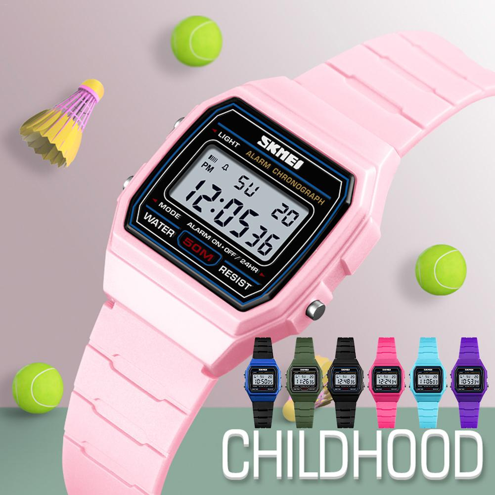 Men Watch Stainless-Steel Children's Alarm Sports Electronic Strap Ultra-Thin for Kid