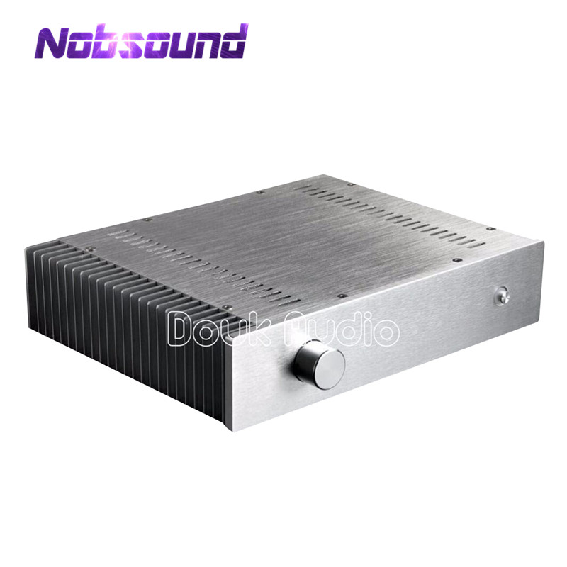 Nobsound Silver Aluminum Enclosure Power Amplifier Chassis Unilateral Heatsink DIY CaseNobsound Silver Aluminum Enclosure Power Amplifier Chassis Unilateral Heatsink DIY Case