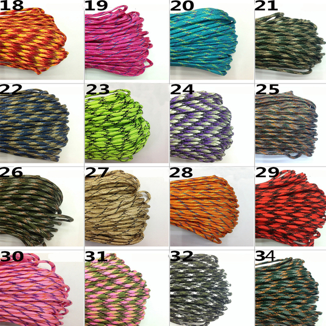 10M Paracord 550 Paracord Parachute Cord Lanyard Rope Mil Spec Type III 7 Strand Climbing Camping Survival Paracord 3