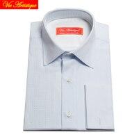 Male Long Sleeve Business Formal Dress Light Blue Cotton Shirts Men S Big Size Casual Shirt