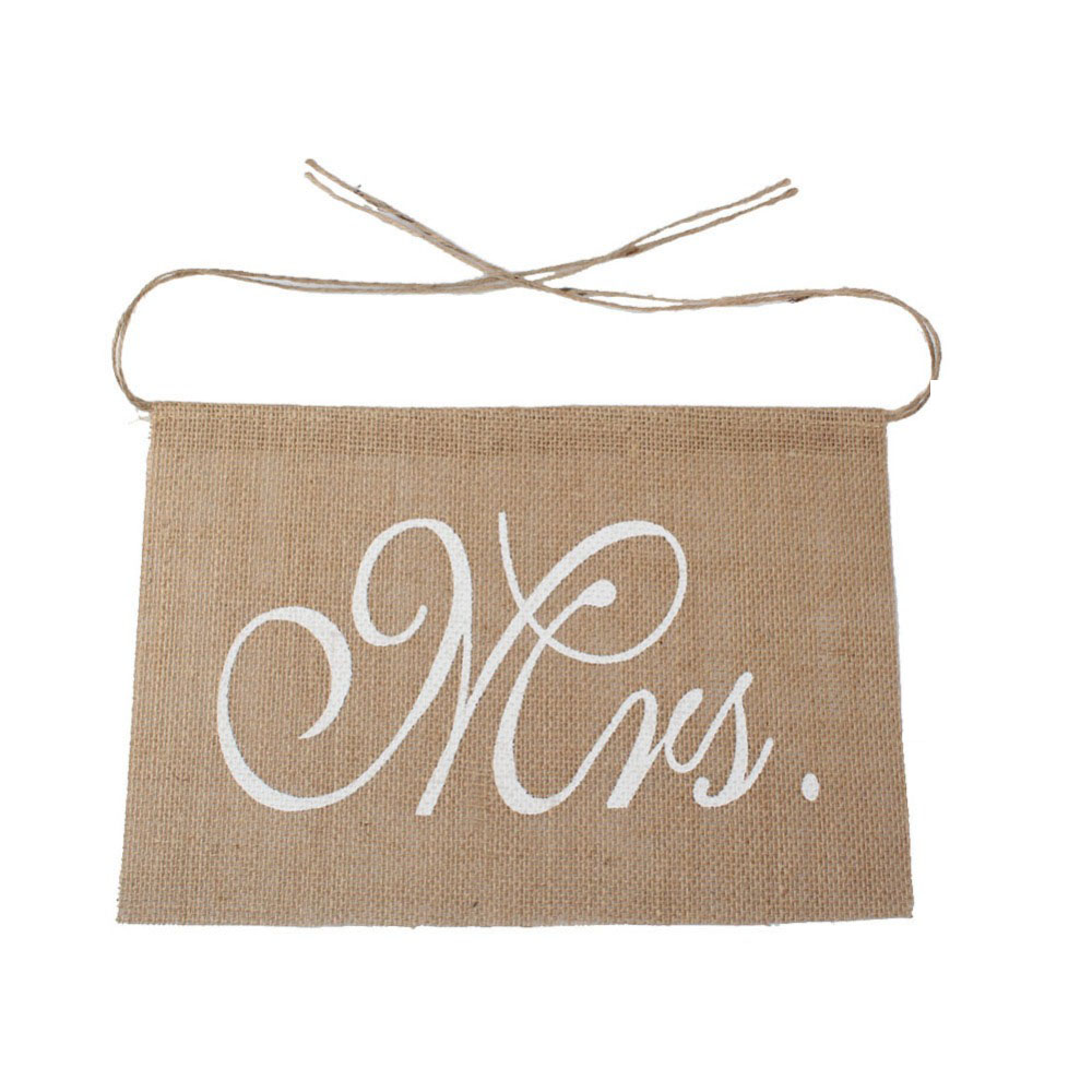 Rustic Wedding Banners Signs Mr And Mrs Chair Sign Vintage