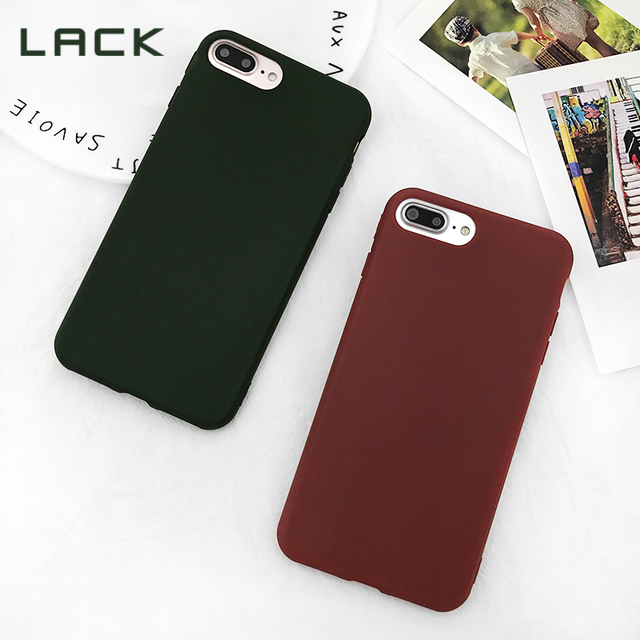 huge discount 8f27f c4371 US $1.63 13% OFF|LACK Retro Wine Red Phone Cases For iphone 7 Plus Dark  Green Case For iphone 7 6 6s 8 Plus X Candy Solid Color Soft Back Cover-in  ...