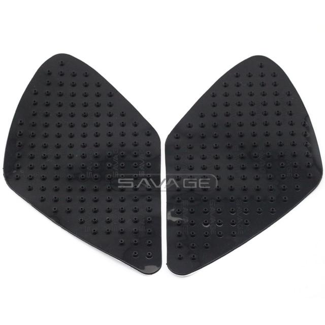 For SUZUKI GSR600 06-10, K7 GSXR1000 GSX-R1000 07-08 Motorcycle Tank Traction Pad Knee Grip Protector Anti slip sticker 3M Black