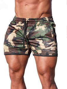 Fitness Shorts Sweatpants Joggers Slim-Fit Bodybuilding Breathable Camouflage Fashion
