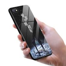 Tempered Glass Case for Xiaomi Redmi 6A Redmi6A Full Cover + Screen Protection Film