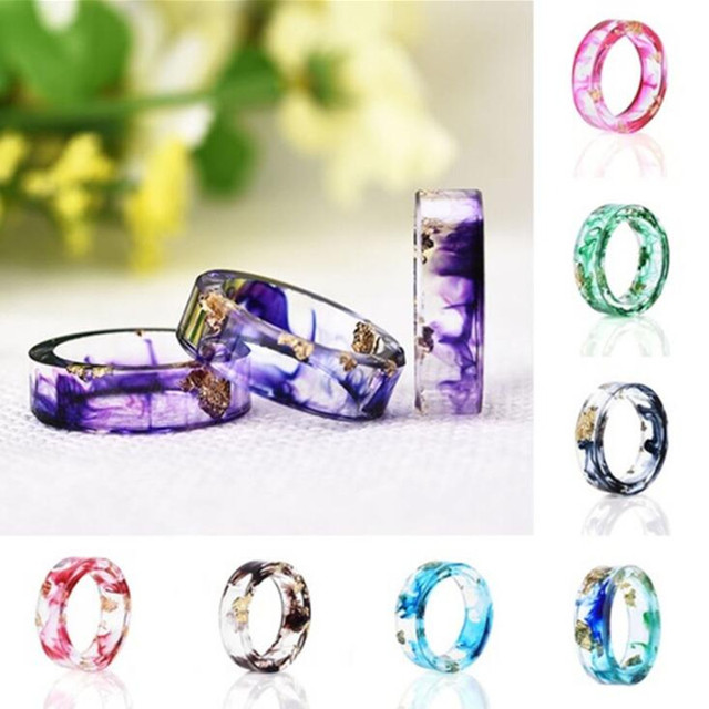 Dried Flower Resin Rings For Women Fresh Diy Handmade Dry Flower Ring flower Bes