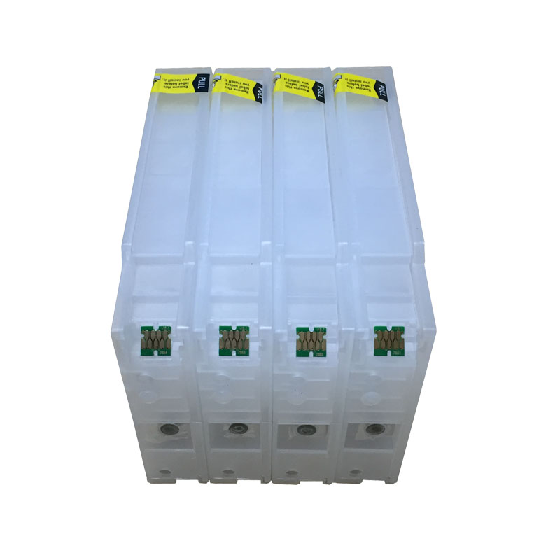 New Compatible for Epson Refillable Ink Cartridge T7551 T7561 For Epson WF-8010/ 8090/ 8510/ 8590 DWF With Chips new t5971 t5974 t5978 empty refillable ink cartridge for epson stylus 7700 9700 7710 9710 with arc chips with one resetter