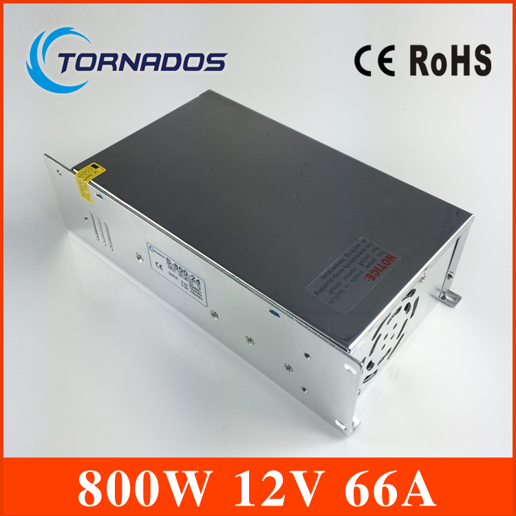 S-800-12 Switching power supply 12v 800w ac to dc converter led driver 110V 220V SMPS For led strip display cctv and 3d printer s 100 12 100w 12v 8 5a single output ac dc switching power supply for led strip ac110v 220v transformer to dc led driver smps