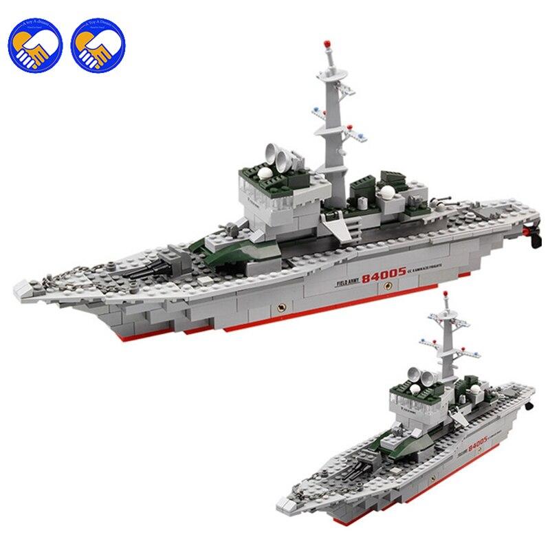 EIN spielzeug EIN traum KAZI 228 stücke 84005 Military Schiff Modell Bausteine Kinder Spielzeug Nachahmung Gun Waffe Ausrüstung Technic designer zu