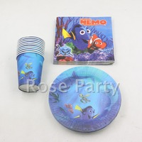 party supplies birthday theme paper cups plates + 5pack paper napkins for 50 kids boy birthday party set paper plate cake dishes