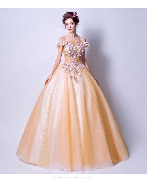8dbde68c208 100% настоящий свет цвет небесно-синий светло Orange длинные бальный наряд  средневековой платье