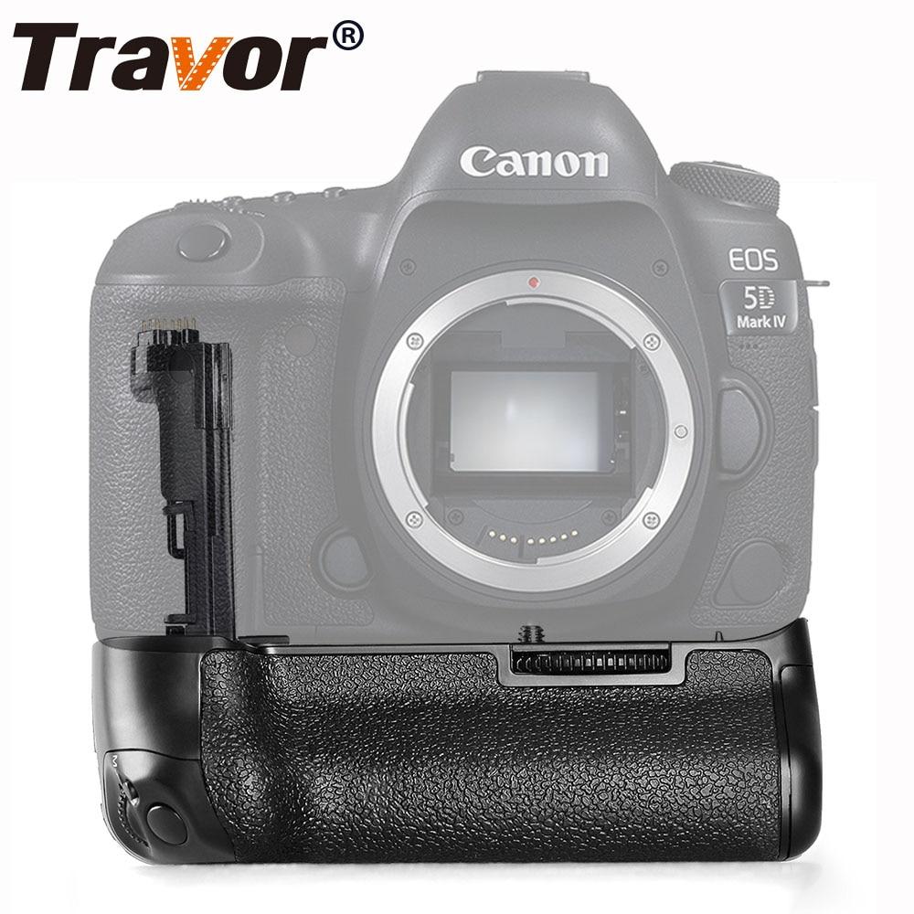 Travor vertical battery grip for Canon 5D Mark IV 5D4 DSLR Camera as BG-E20 work with LP-E6N LP-E6 battery travor bg 1g camera battery grip for canon eos 60d black