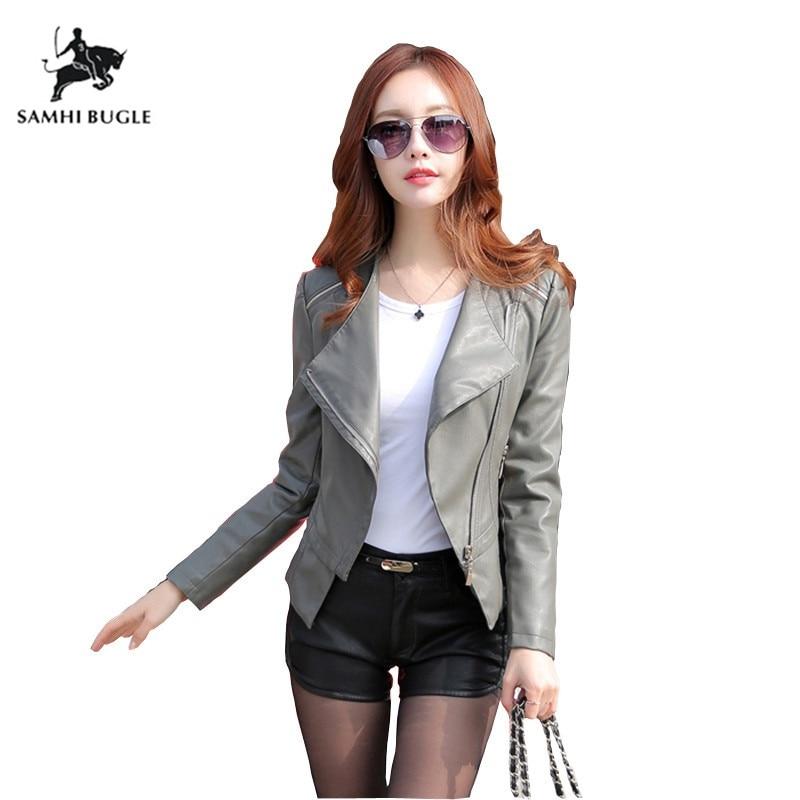 Faux Soft Leather Jacket Women 2018 New Fashion Spring Women Pu Black Blazer Zippers Coat Motorcycle Outerwear Plus Size 5XL 4XL