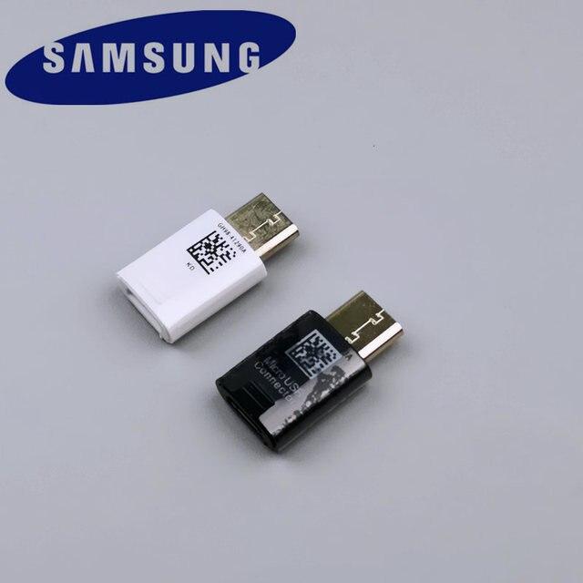 Оригинальный samsung Galaxy Тип usb C адаптер Micro USB Тип разъёма-C конвертер кабель для быстродействующего зарядного устройства для S8 S9 PLUS/Note 8