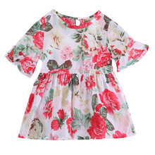 Lovely Girls Floral Flounced Dress 1-6 Yrs