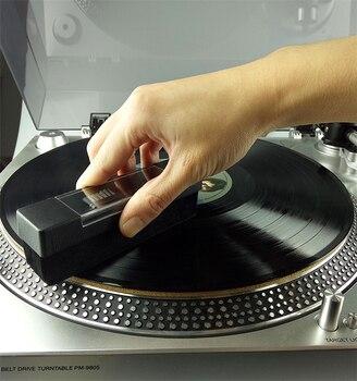 Антистатическая бархатная щетка для CD/LP Виниловый проигрыватель пластинок аксессуары для плееров