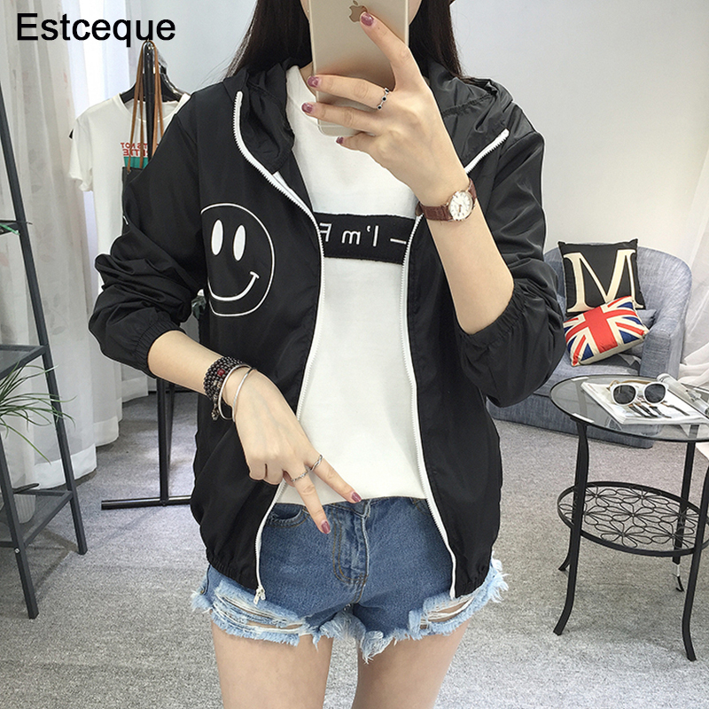 Jackets   Women 2019 New Fashion Women's Hooded   Basic     Jacket   Casual Thin Windbreaker Female Outwear Women Coat