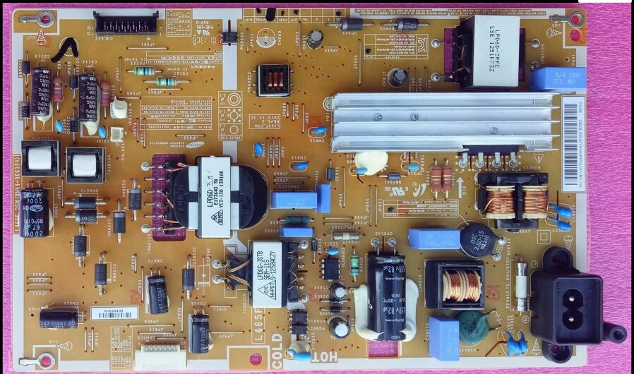 for samsung LCD TV UA46F5080AR power supply board BN44-00610A BN44-00610B L46SF-DSM is used удлинитель allocacoc extended remote 1 5m black 1513bk euexrm