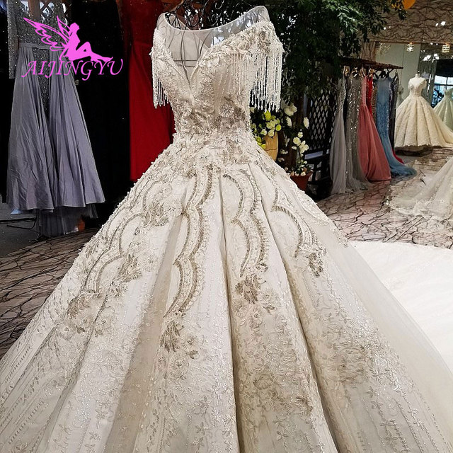 AIJINGYU Wedding Simple Dress Gypsy Style Gowns 2021 Big Size engagement Princess Train Custom Gown Alternative Wedding Dresses