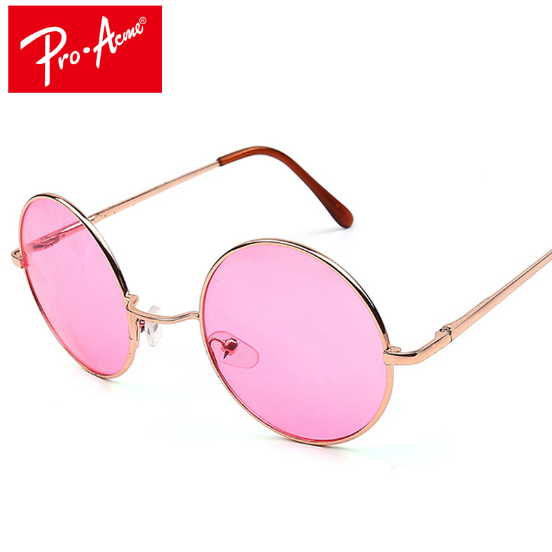 برو أكمي ريترو جولة نظارات المرأة العلامة التجارية مصمم الهبي 60 ثانية لينون خمر نظارات الشمس دي سول gafas نظارة CC0253