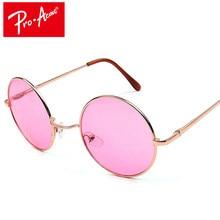 e28766b48 Pro Acme 60 s Lennon Hippie Retro Rodada Óculos De Sol Das Mulheres  Designer de Marca Do Vintage Óculos de Sol óculos De Sol Gaf.
