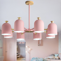 Nordic современный Макарон кованые подвесные светильники творческая личность ресторан спальня гостиная E27 лампы подсветки