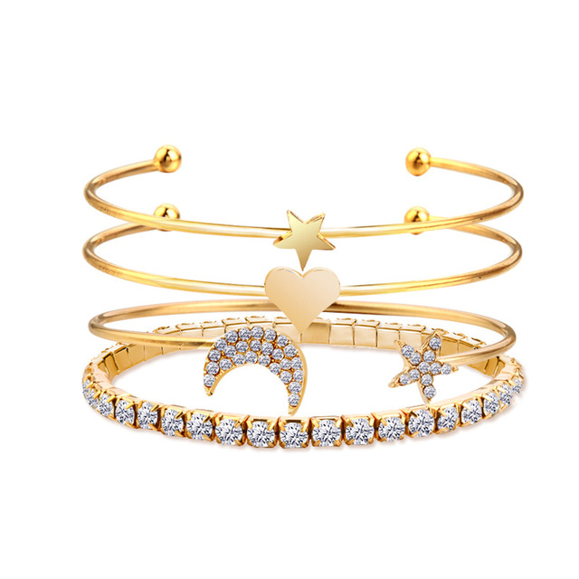 4pcs/set Women Bracelets...