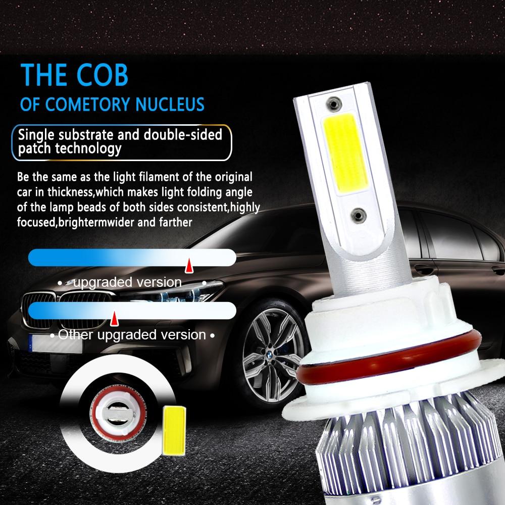 2PCS H1 H4 H7 9005 9006 200W 20000LM LED Headlight Hi//Low Beam Bulbs White 6000K