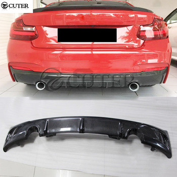 F22 Carbon Fiber Car Rear bumper lip Back Bumper Spoiler diffuser for BMW F22 2 series M235i car body kit 14-18 image