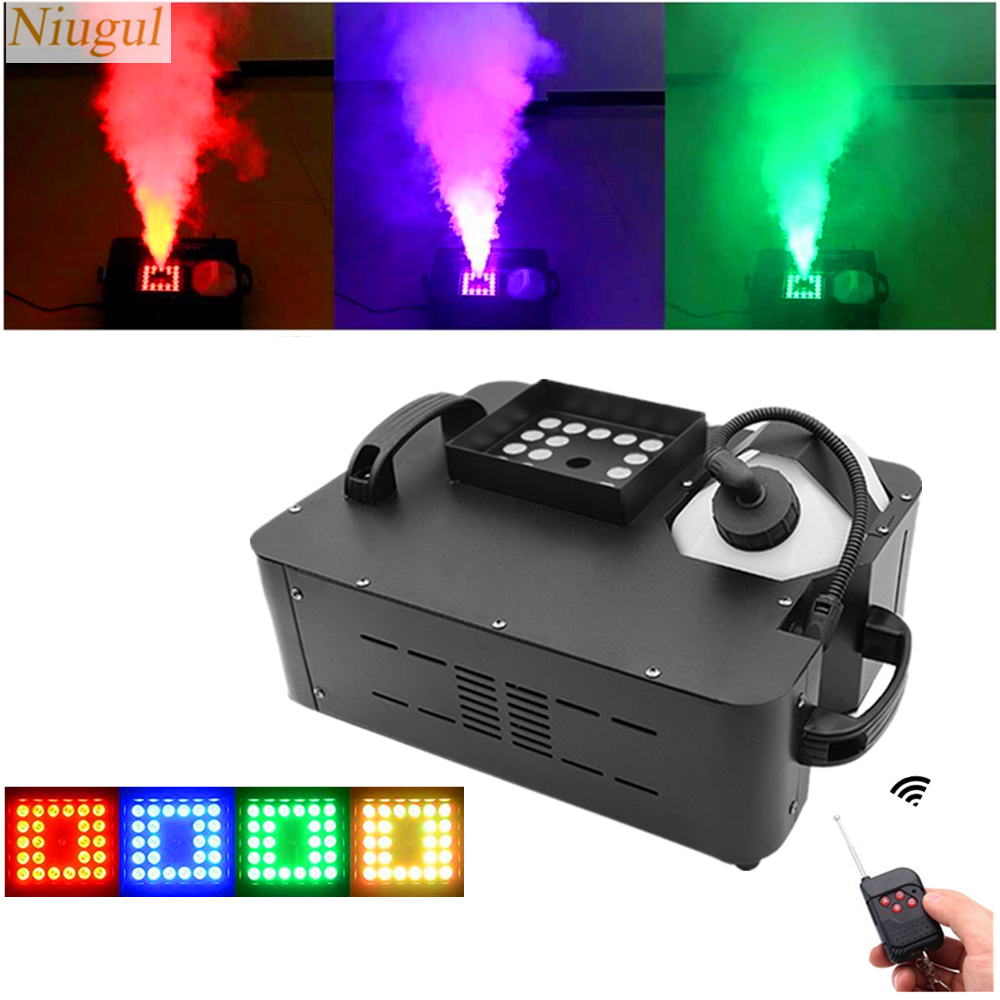 1500W LED Fog Machine/DMX512 Remote Control Smoke Machine With 24x9W RGB LED Lights/DJ Vertical <font><b>Stage</b></font> LED Fogger <font><b>Hazer</b></font> Equipment image