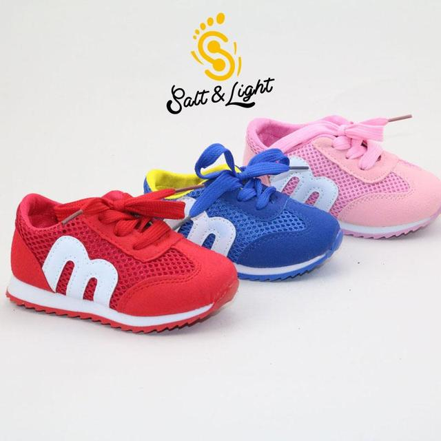 children spring autumn kids casual lae-up mesh letters candy color baby boys breathable sport shoes girls fashion sneakers 21-25