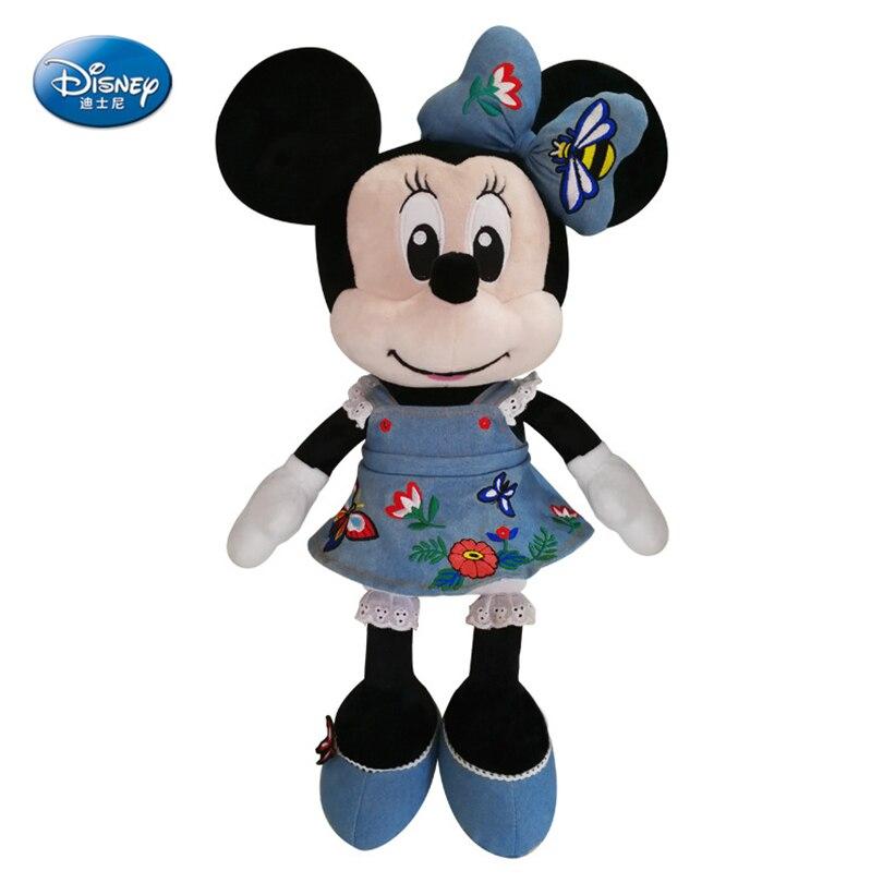 Disney Minnie 46 cm poupée de haute qualité mignon Mickey souris en peluche jouet film personnage de dessin animé rempli jouet fille jouet anniversaire GiftSZZ065