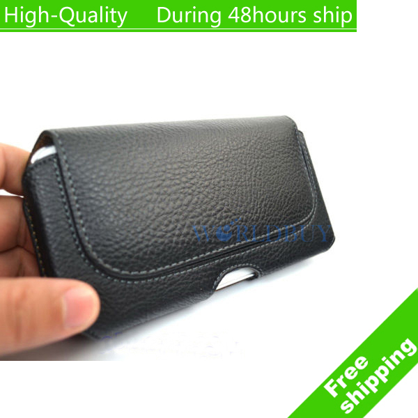 newest 72e57 950c5 US $4.78 |High Quality Black Leather Belt Clip Holster Pouch Carrying Case  for iPhone 6 for iphone 6s 4.7''-in Wallet Cases from Cellphones & ...