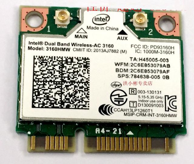 SSEA cartão para Intel Wireless wifi + Bluetooth 4.0 Sem Fio AC 3160 3160HMW 802.11ac 2.4G/5 GHz 433 Mbps
