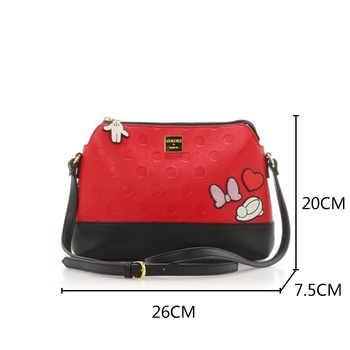 Disney Japanese Alice in Wonderland Mickey Minnie Mouse Women\'s Shoulder Messenger Bag Girl Travel Shell Bag Mobile Bags Fashion