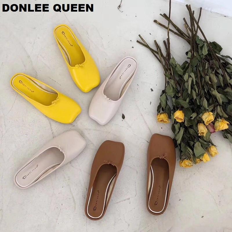 DONLEE QUEEN Split Toe Tabi Ninja Slippers Slip On Mule Shoes Women Flat Casual Shoe Soft Moccasin Brand Slide Summer Flip Flops