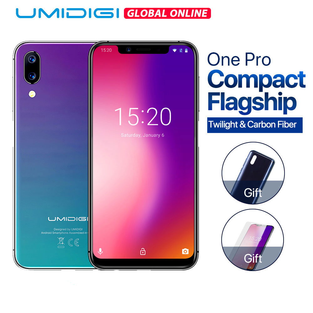 "Umidigi One Pro Global Version 4GB 64GB Helio P23 Octa-core 5.9"" Fullscreen Android 8.1 NFC Smartphone Fingerprint Mobile Phone"