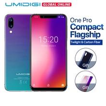"Umidigi one pro 글로벌 버전 4 gb 64 gb helio p23 octa core 5.9 ""전체 화면 android 8.1 nfc 스마트 폰 지문 인식 휴대 전화"