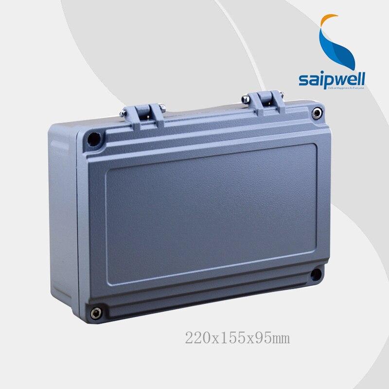 2015 Vente Chaude! Saipwell Haute qualité IP67 boîte en aluminium du boîtier électronique 220*155*95mm (avec charnière) type SP-AG-FA14