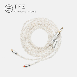 TFZ TC 3.5/4.4mm Interface 2 Pin 0.78mm Pin Earphone Upgrade Wire Universal Silver Plated Single Crystal Copper Silver Foil Wire