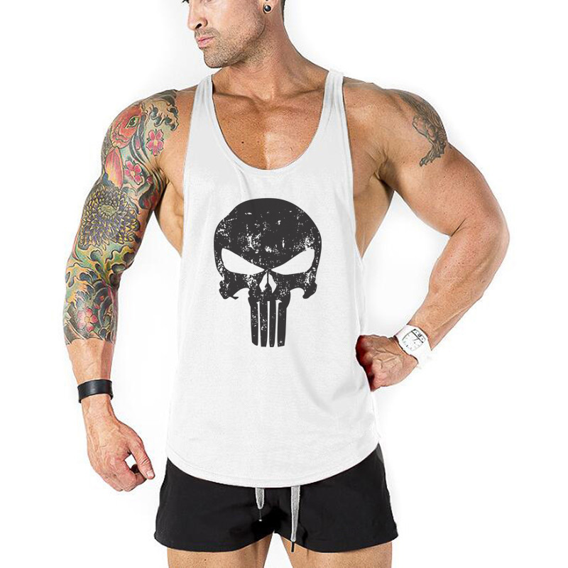 Summer Brand Gyms Stringer Tank Top Men Musculation Vest Bodybuilding Clothing Fitness Men Undershirt Workout Tank Shirt