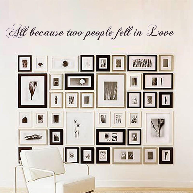 Love Wall Decal All Because Two People Fell In Love Wedding Quote - Wall decals love