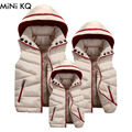 1pcs Matching Family Jacket Vest Mother Father Daughter Son Winter Vest Coat Mom Kids Warm Thick Sleeveless Hooded Down Coat